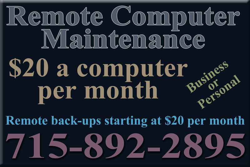 Remote Computer Maintenance